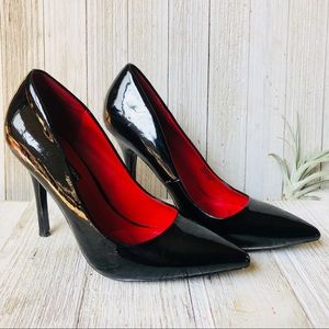 Charles Jourdan • Black Patent Leather Pumps